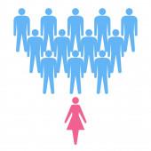 Men and woman conceptual scheme