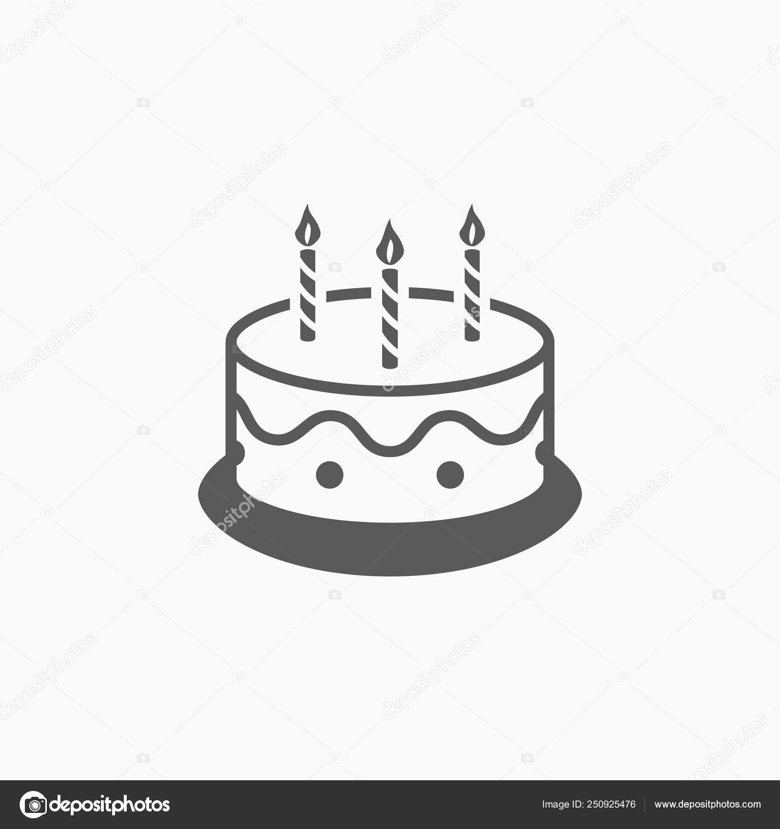 Cool Cake Icon Birthday Cake Vector Stock Vector C Musmellow 250925476 Funny Birthday Cards Online Kookostrdamsfinfo