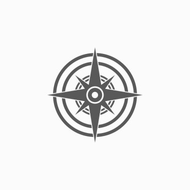 compass icon, guide vector, direction illustration