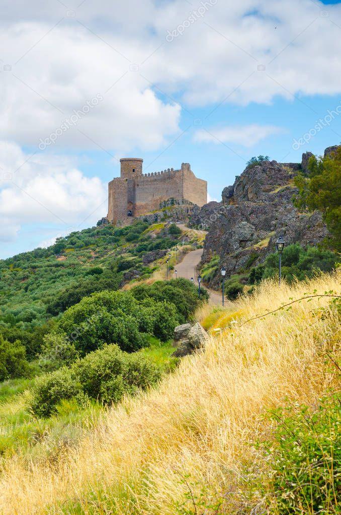 Medieval Castle of Puebla de Alcocer, Badajoz, Extremadura