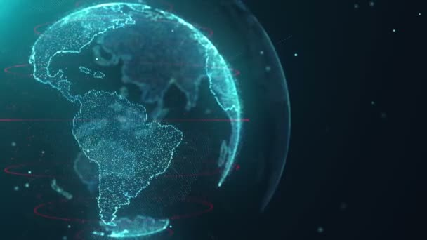 Weltkarte Teilchen hd