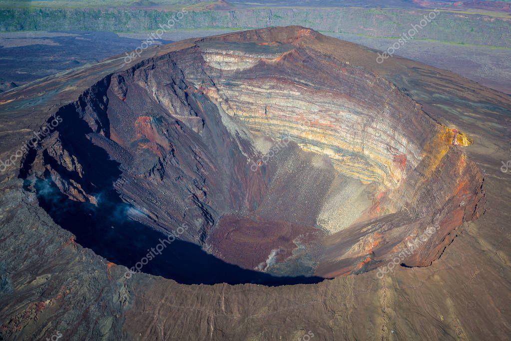 Beautiful view of Crater Dolomieu, Piton de la Fournaise, La R
