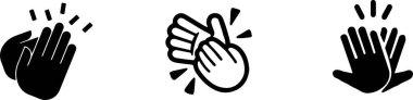 clap icon on white background
