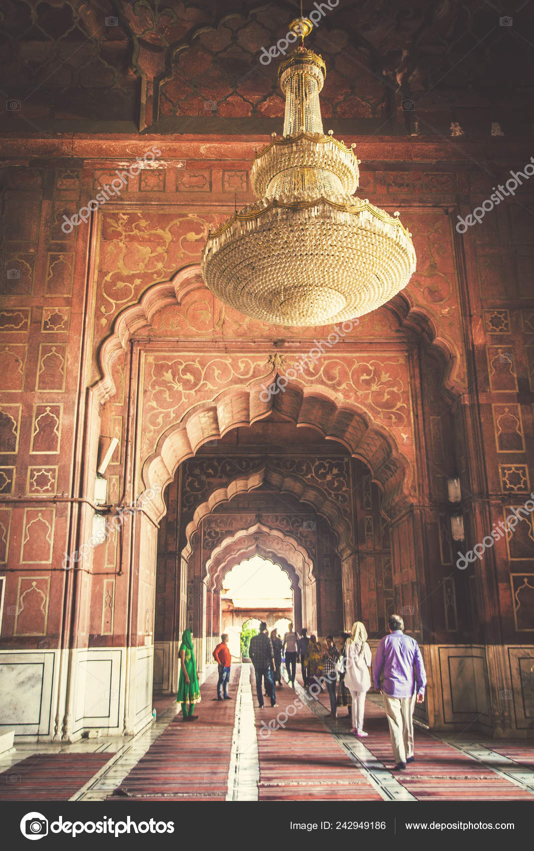 Jama Masjid Old Mosque Biggest Mosque India People Visiting