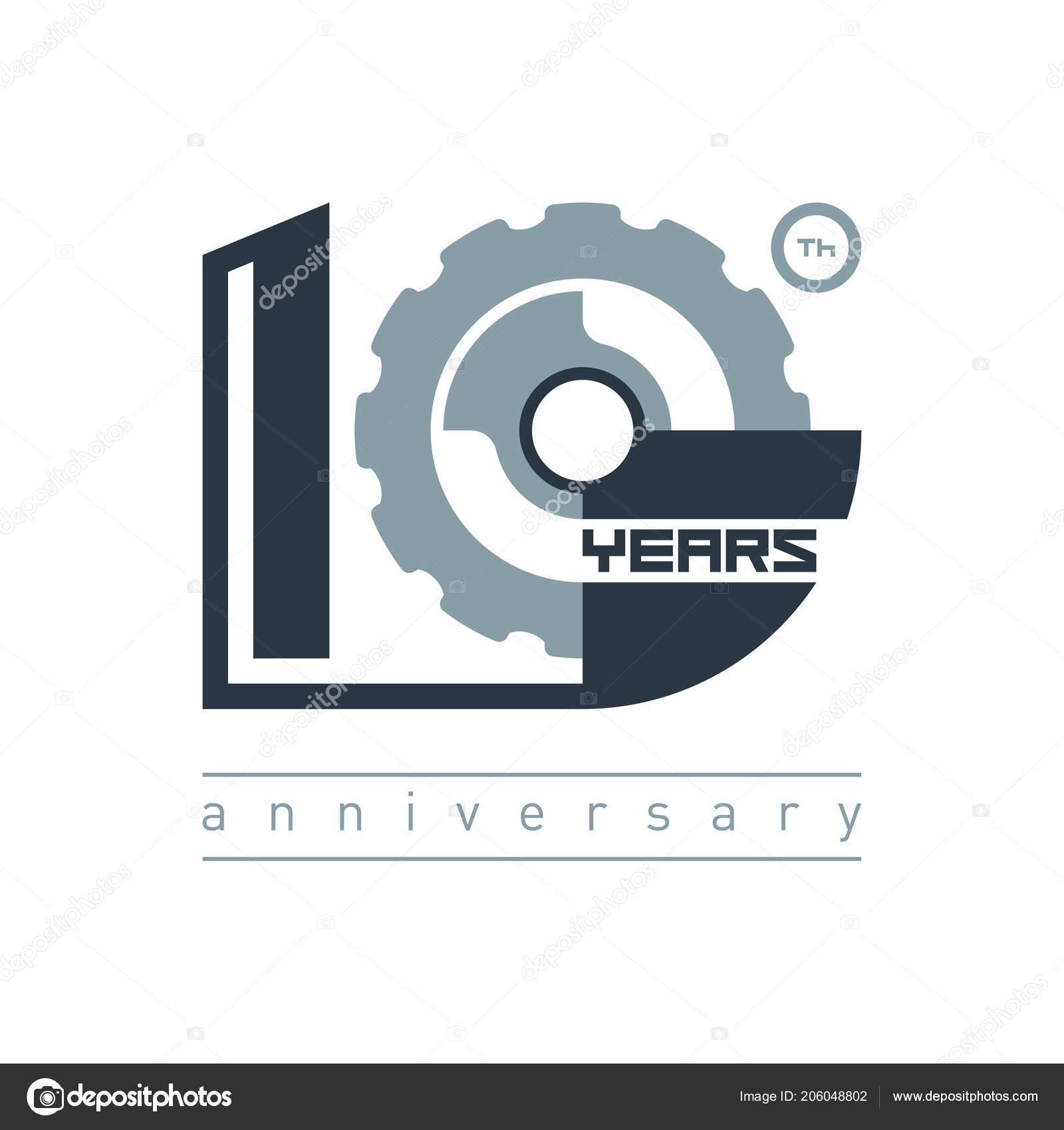 Modern Symbol Years Logo Emblem Sign Creative Template Celebration