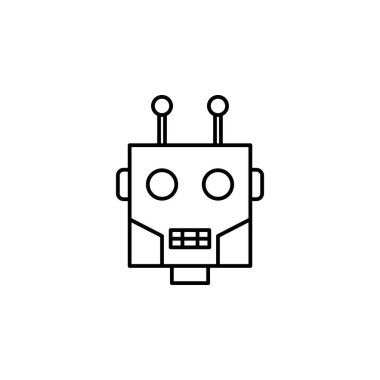 Robotics robot outline icon. Signs and symbols can be used for web, logo, mobile app, UI, UX
