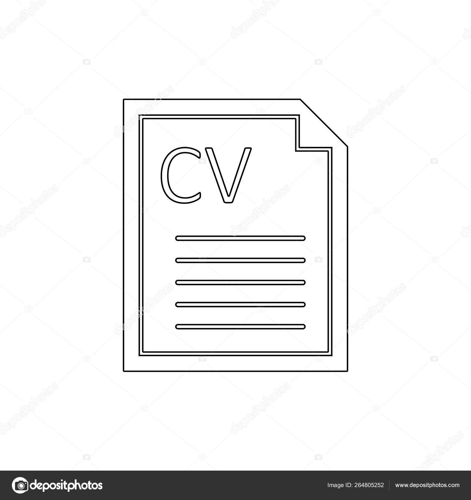 Curriculum Cv Life Portfolio References Vitae Outline Icon