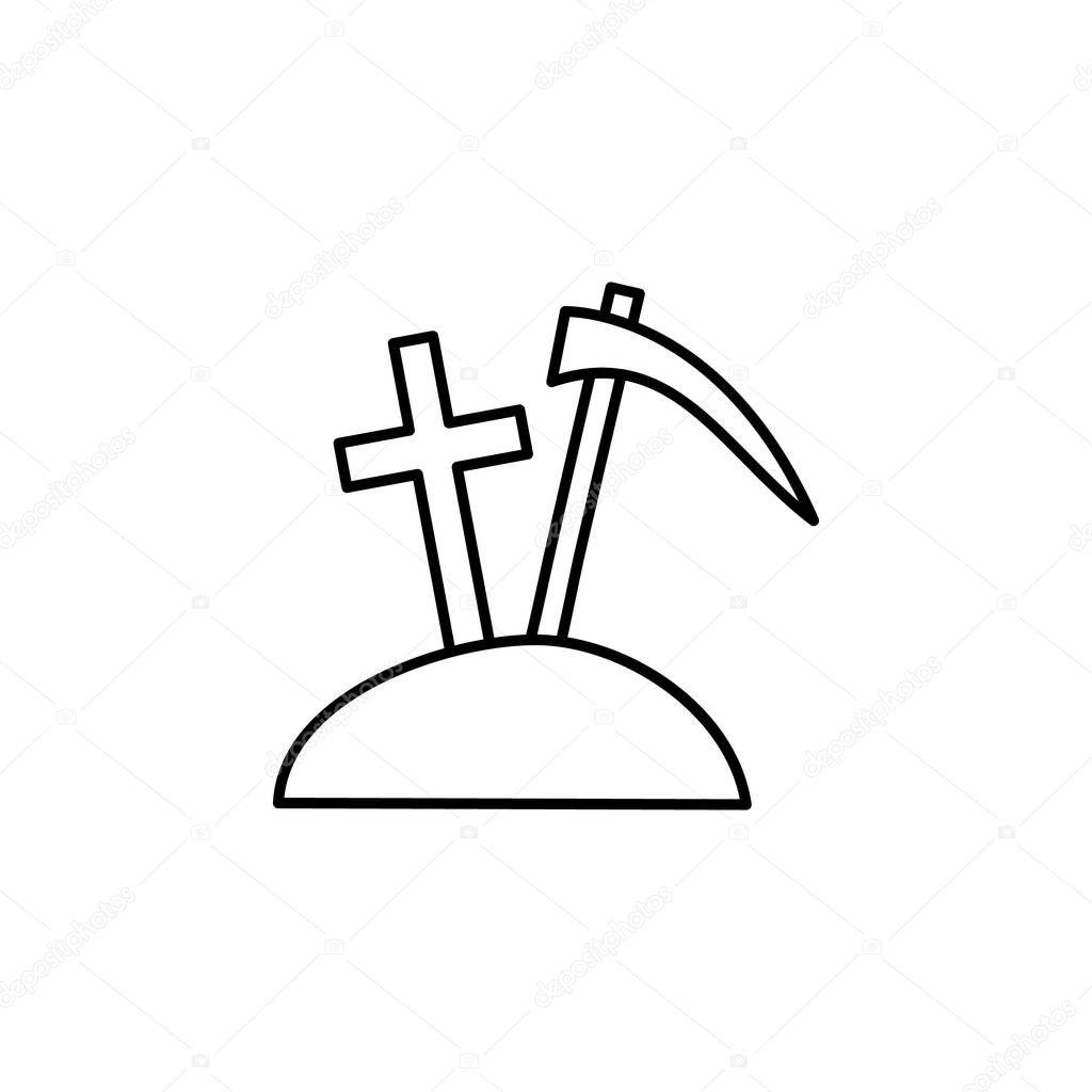 Western Slogan - Dig Gold or a Grave - Pick Axe And Shovel - Aufkleber |  TeePublic DE