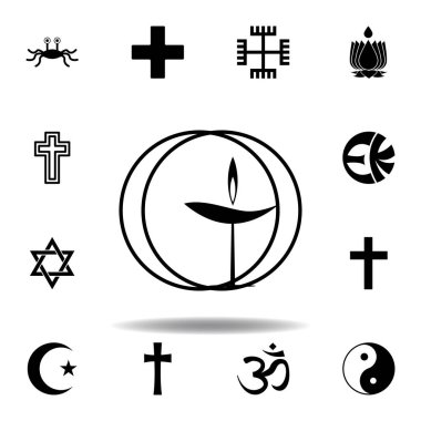 religion symbol, Unitarian, universalism icon. Element of religion symbol illustration. Signs and symbols icon can be used for web, logo, mobile app, UI, UX