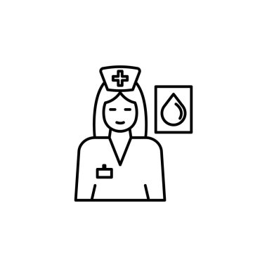 blood donation line icon. Signs and symbols can be used for web, logo, mobile app, UI, UX on white background