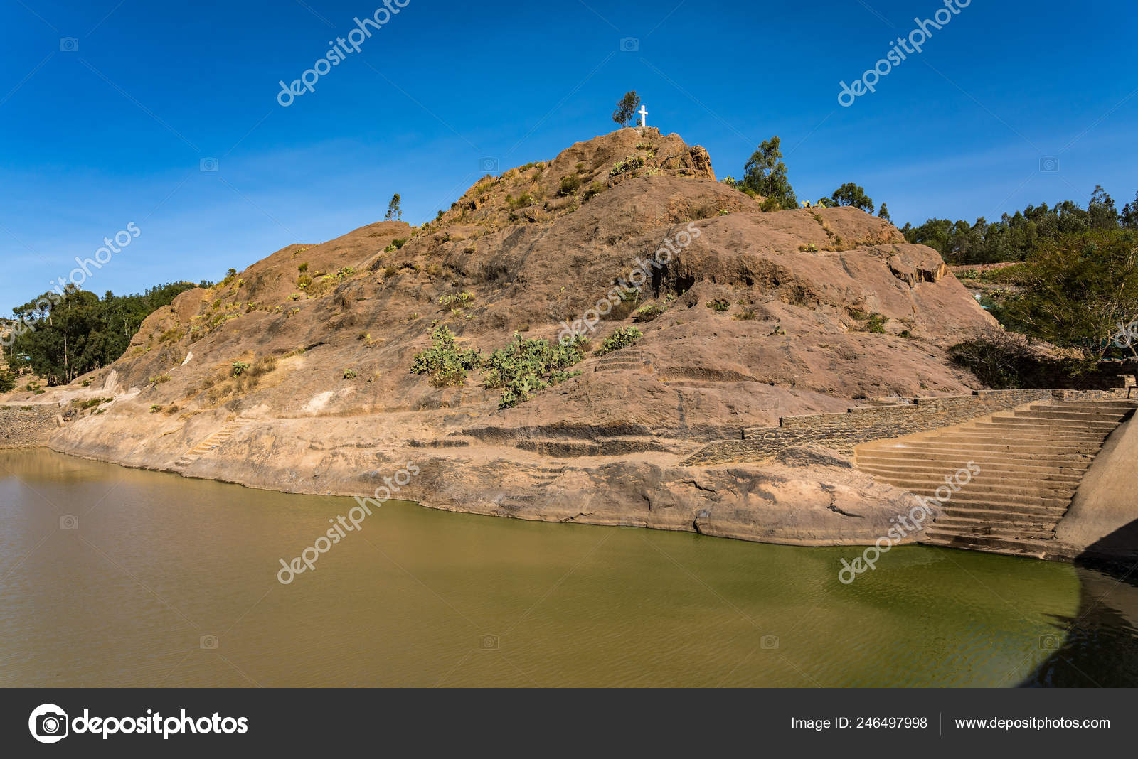 Banos Reina.Etiopia Axum Las Ruinas Los Banos Reina Saba Africa Foto