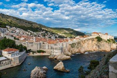 The fortress Bokar or Zvjezdan and the South-western part of Dubrovnik City walls. Croatia.
