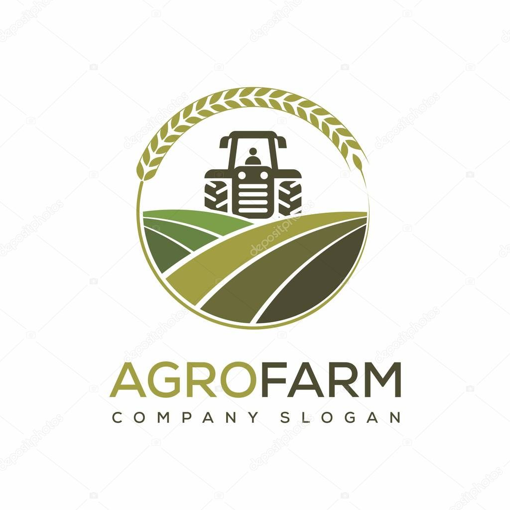 agro farming vector logo design template