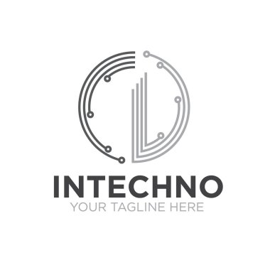 i technology logo designs icon