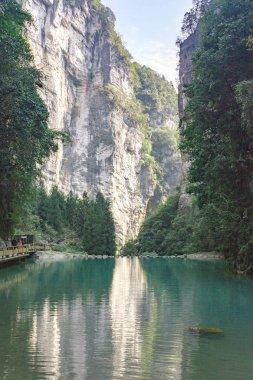Chongqing China, Three Natural Bridges, Wulong ancient  natural bridge Scenic Area, Wulong National Park, famous valley in china