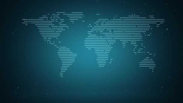 Globální populační koncept. 4k animace zobrazující nejvíce zalidněné oblasti naší planety.