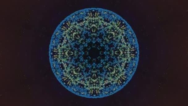 Nukleáris tudomány és mérnöki koncepció. Kerek alakú minta megváltoztatja összetételét plexus hálózatok sötét háttér.