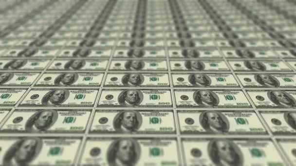4k video z obrazu stohu peněz.