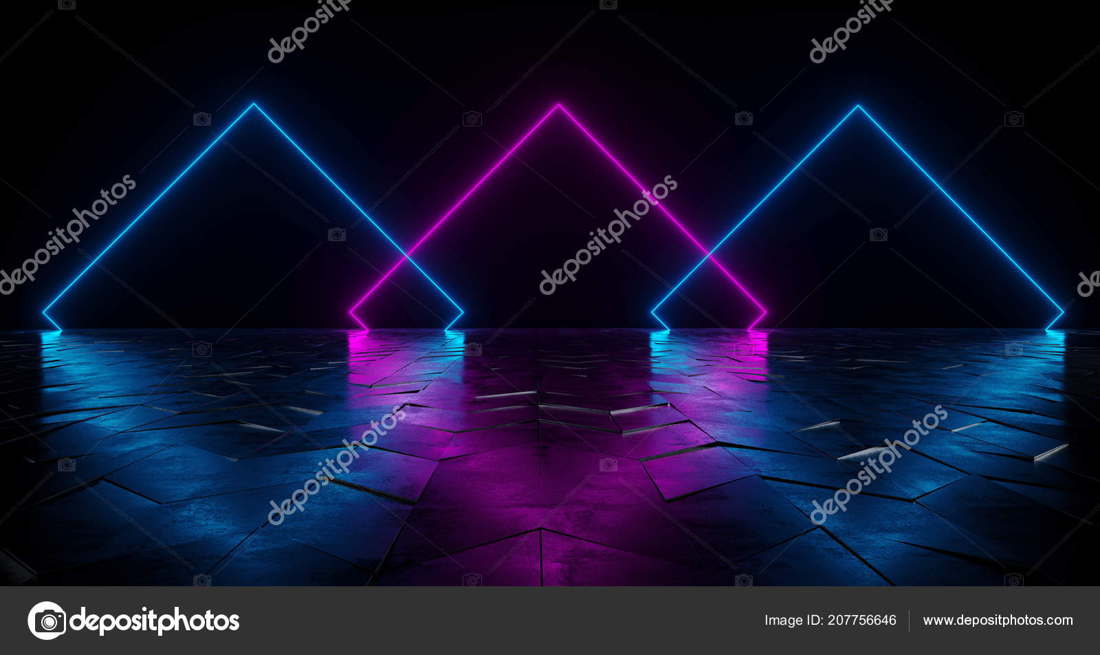 Tubo neon vibrante viola blue luci incandescente riflettente