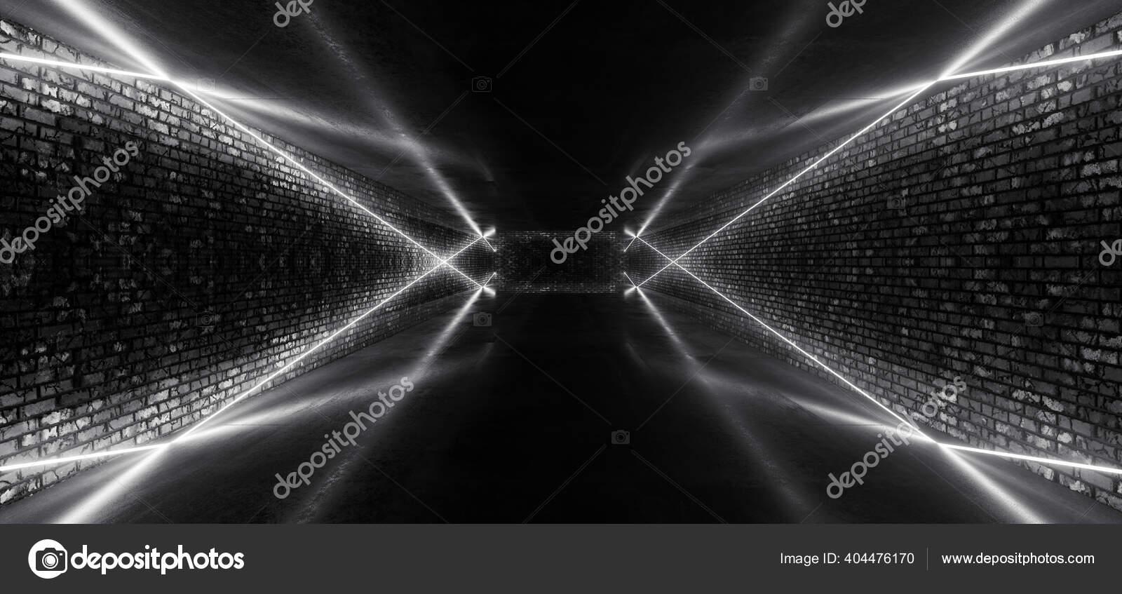Retro Modern Sci Dance Room Brick Walls Neon Laser Feixes Stock Photo C Ivanmollovphoto 404476170
