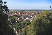 Mindelheim. Malé město v Allgaeu na jihu Německa v
