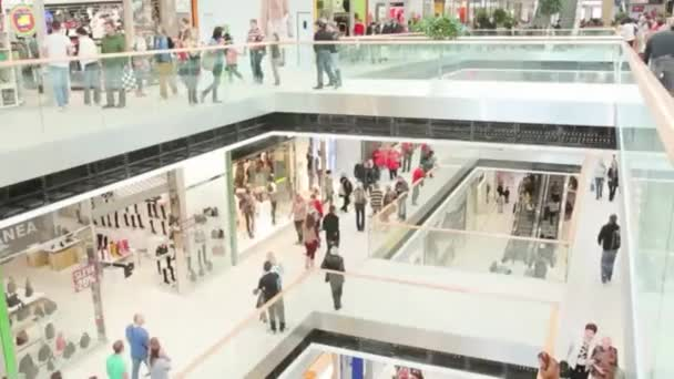 walking people in the newly opened shopping mall center