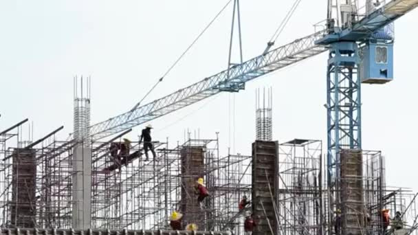 people working in construction site