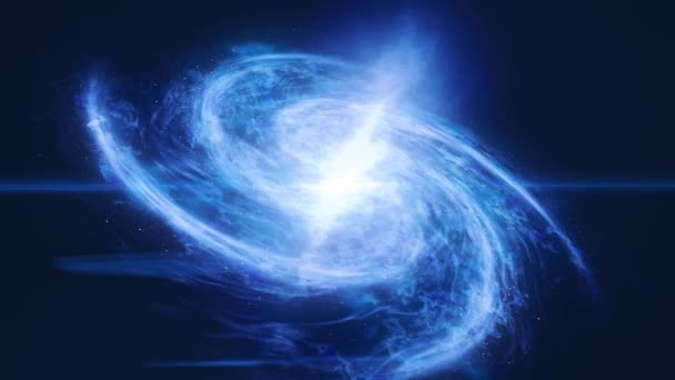 4k slow motion footage. The beautiful galaxy slowly rotates in place in space and glows brightly. Anamorphic optical flashes.