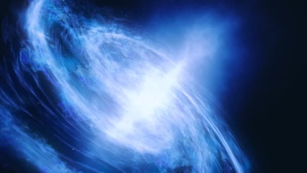 The motion of the galaxy along its trajectories. 4k closeup footage. Space exploration.
