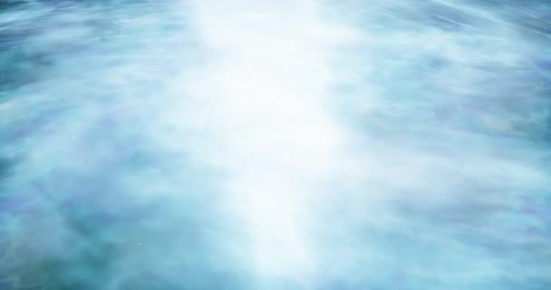 Spirála galaxie se pohybuje kolem Abstraktní prostor pozadí Hvězdný prostor, tvorba hvězd a planet Hluboký vesmír záběry Částice zářící pozadí Dramatická scéna vesmíru 4k video vykreslování animace