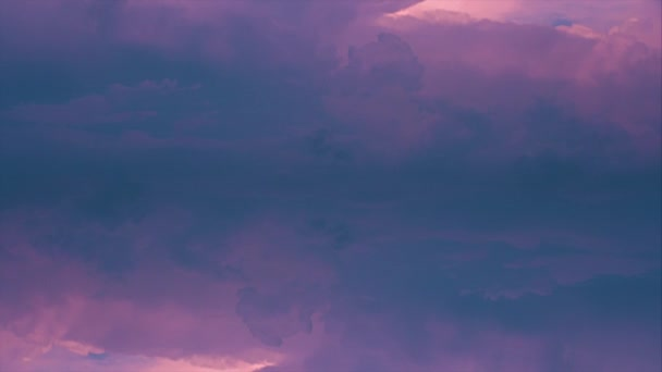 Purple fluffy clouds formation 4k timelapse opener intro