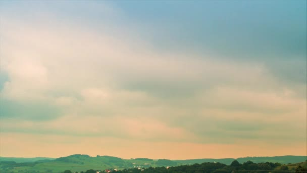 Panoramas of the countryside with a tropical climate Timelaps of clouds 4k
