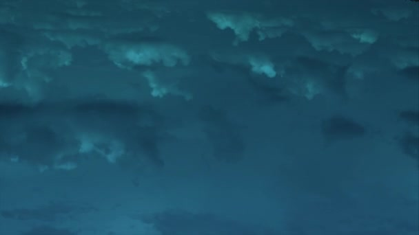 Flight through the dramatic cloudy landscape Evening scene 4k timelapse