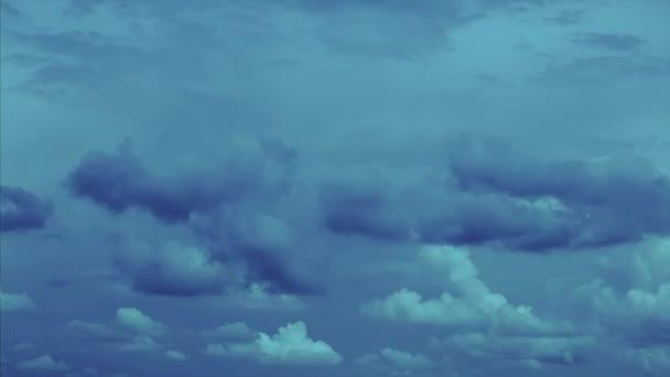 Dramatic cloudy landscape Evening scene 4k timelapse