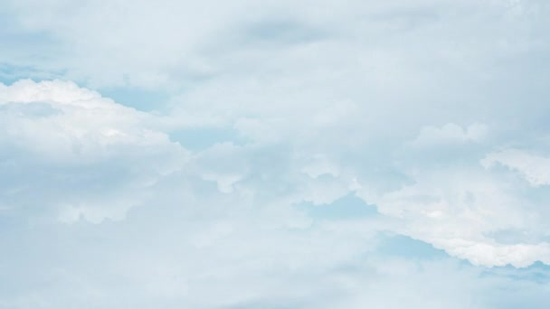 Flying through extremely beautiful white clouds Wide angle shooting aerial view timelapse