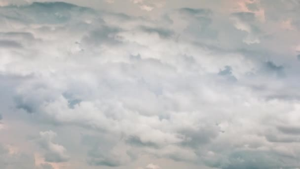 Timelapse motion of gray heavy clouds 4k footage