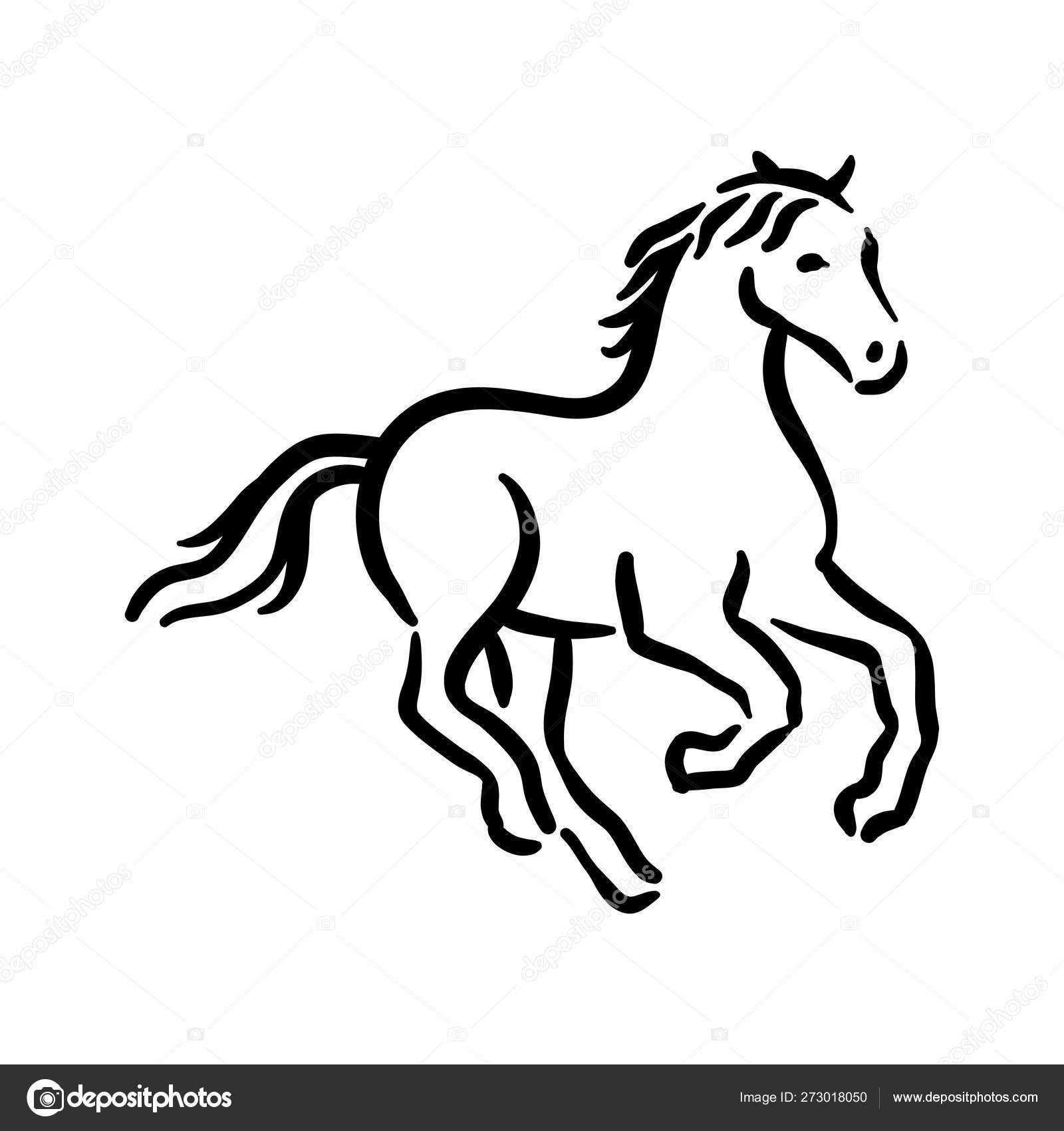 Horse Symbol Illustration Black On White Background Stock Vector C Arthadesignstudio 273018050