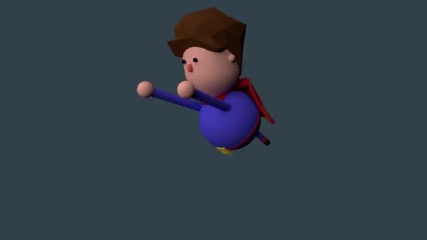 superman 3D rajzfilmfigura jelent repülő