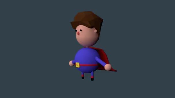 superman 3D rajzfilmfigura jelent séta
