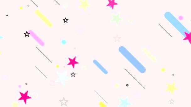 kreslený padající hvězdy