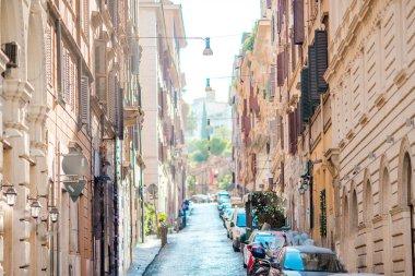 """Картина, постер, плакат, фотообои """"old beautiful empty streets with cars in rome"""", артикул 196092652"""