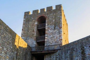 Medieval Smederevo fortress stone tower