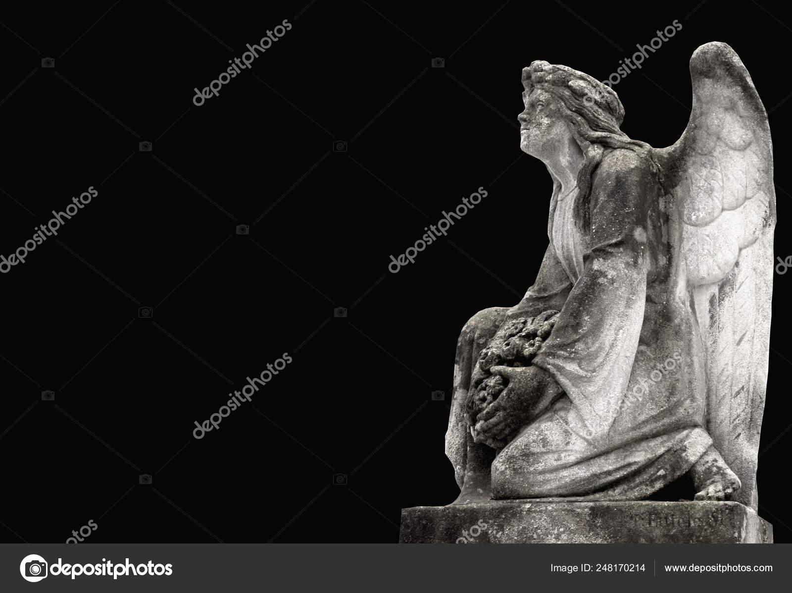 Statue Tired Angel Pain Prayer Stress — Stock Photo © vlady1984