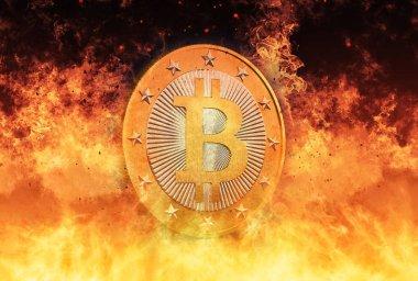 Bitcoin's Hot - Bitcoin sanal para - 3d render
