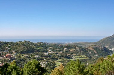 Landscape view over the coast of Spain