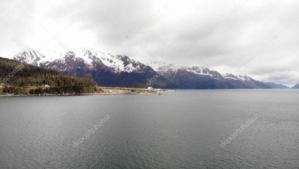 Views from shipyard in Seward Alaska