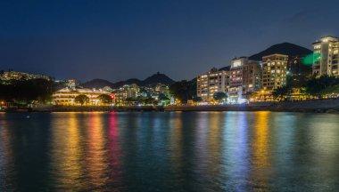 Panoramic view on Stanley Village Boulevard on Hongkong Island. Chek Chue, Hong Kong, China