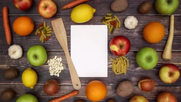 Paper for recipe and food supplies - Stop Motion