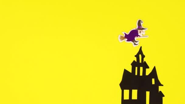 Halloween hátborzongató dekoráció halloween matricák sárga téma. Állj!