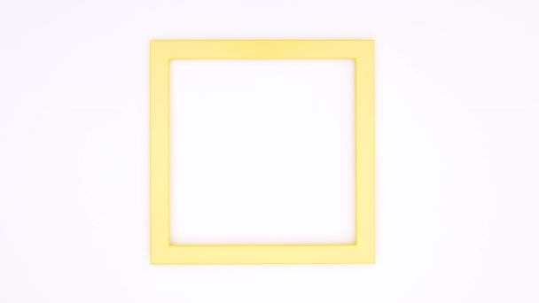 Creative photo frame for text or logo on white theme. Stop motion